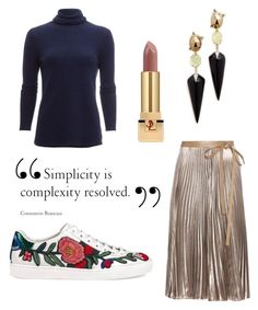 """""""Untitled #127"""" by igebers ❤ liked on Polyvore featuring White + Warren, Valentino, Gucci, Alexis Bittar and Yves Saint Laurent"""