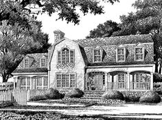 Farmhouse House Plan with 2679 Square Feet and 4 Bedrooms(s) from Dream Home Source | House Plan Code DHSW55975