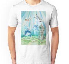 """Mermaid Dolphins"" by jurast Dolphins, V Neck T Shirt, Classic T Shirts, Mermaid, Hoodies, People, Mens Tops, Stuff To Buy, Art"