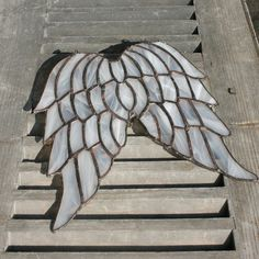 Stained Glass Angel Wings  Hanging Angel Wings by PamelaAngus