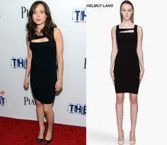 Ellen Page in Helmut Lang dress and Saint Laurent pumps at 'The East' Hollywood Premiere