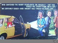 Bamforth-Comic-Postcard-1970s-Motoring-Related-No-215