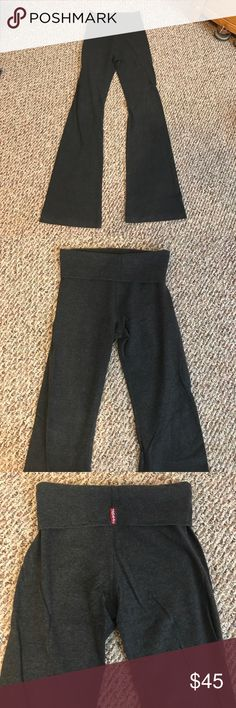 Hard Tail charcoal gray fold over yoga pants Hard Tail charcoal gray fold over yoga pants - new condition - only worn once! Hard Tail Pants