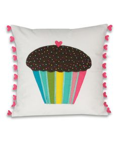 Take a look at this Retro Luv Single Muffin Throw Pillow by THRO on #zulily today!