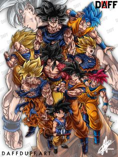 The legacy of Goku. A closer look at the giveaway Poster. As well as the chance to announce that I've officially started taking… Dragon Ball Z, Dragon Ball Image, Manga Japan, Mega Anime, Goku Wallpaper, Desenho Tattoo, Z Arts, Otaku, Graphics