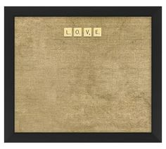 LOVE Scrabble Corkboard | Pottery Barn