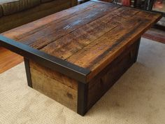 Industrial Coffee Table with Usable Trunk / Chest Base on Etsy, $479.00