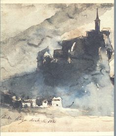Drawing by Victor Hugo, 1866. Ink and wash. From I Disegni di Victor Hugo, Edizioni ALFA Bologna, 1983.