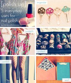 Polish Up: 5 Everyday Uses for Nail Polish - MichellePhan.com