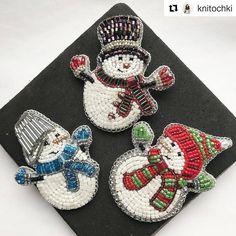 #Repost @knitochki (@get_repost) ・・・ ☃️ А вот и общее фото трио снеговичков! Свободен парень в красно-зеленой шапочке. Остальные ребята на брони. ⛄️ ⛄️ Стоимость:1500+ доставка. Приедет к вам в красивой подарочной упаковке, она же - идеально подойдёт для хранения броши. ⛄️ ⛄️ Материалы: японский бисер и Swarovski. ☃️ ☃️ #брошьручнойработы #вышивкабисером #брошьизбисера #вышивкапайетками #брошьснеговик #снеговик #брошьновогодняя #брошимосква #вышитаяброшь #авторскаяброшь #брошка #брошки…