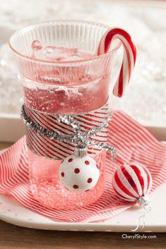 pomegranate and grenadine sparkling mocktail