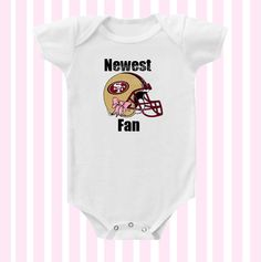 e92b5457ad2 Newest 49ers Fan Baby Girl Bodysuit by by Simplybabyshop on Etsy