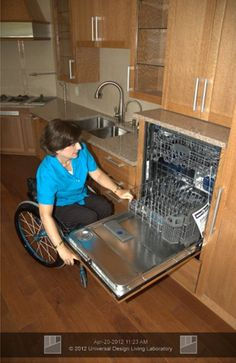 Raised dishwasher  #homewithoutage #aginginplace