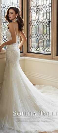 sophia tolli open back mermaid wedding dresses spring 2016 Y11625