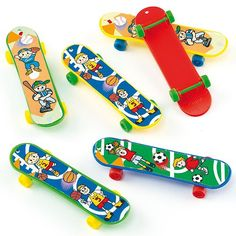 Shop the exclusive range of pocket money toys at Baker Ross. Party bag fillers, themed toys and stationery and much more. Diy Craft Projects, Diy Crafts, Finger Skateboard, Pocket Money, Cool Skateboards, Party Bag Fillers, Mini Games, Party Bags, 7th Birthday