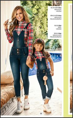 s Clothing Children' Mom And Baby Outfits, Mother Daughter Matching Outfits, Mother Daughter Fashion, Kids Outfits, Cute Outfits, Farm Clothes, Indian Fashion Trends, Denim And Lace, Casual Work Outfits