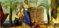 """""""Προσωποποίηση της Ελλάδος, ως κράτος"""". Το 1836 ανατέθηκε στον Λούντβιχ Σβαντχάλερ η εικονογράφηση των αιθουσών του Ανακτόρου του Όθωνα στην Αθήνα με θέματα από την πρόσφατη τότε ελληνική ιστορία. Τα θέματα του Σβαντχάλερ σχεδιάστηκαν για την μεγάλη τοιχογραφία-ζωφόρο στην Αίθουσα των Τροπαίων του Ανακτόρου, σημερινή Αίθουσα Ελευθερίου Βενιζέλου στο Μέγαρο του Ελληνικού Κοινοβουλίου. Τα σχέδια του Βαντχάλερ υλοποιήθηκαν από ομάδα Γερμανών ζωγράφων."""