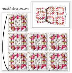 Рукодельные Равлики: Тапочки из бабушкиных квадратов | Мастер-классы по рукоделию