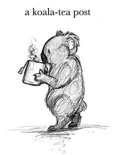 a koala-tea post Koala Tattoo, Koala Craft, Koala Illustration, Deviantart Drawings, Bear Drawing, Artists For Kids, Kawaii, Doodle, Drawing People