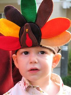 Turkey Headband (maybe feathers in back and head in front . . .)