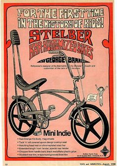 George Barris bicycle, these were real crap! ugly and poorly made.....