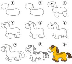 How to draw a horse easy for kids home improvement cast karen Easy Drawings Sketches, Easy Drawings For Kids, Horse Drawings, Animal Drawings, Disney Sketches, Disney Drawings, Home Improvement Cast, Teen Christmas Gifts, Boy Drawing