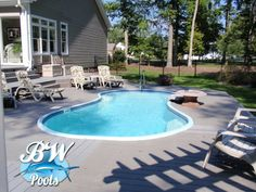 Inground Pool Ideas Small Yards small inground pools for small yards with 4 umbrella and chaise lounge for outdoor decoration ideas Small Inground Pools For Small Yards Bw Pools Inground Pools Virginia Beach Bw Pools