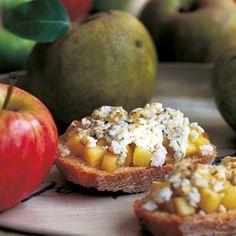 Tostas de manzana con queso