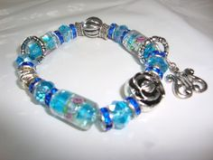 Blue Flower Glass Encrusted http://palomaarts.wix.com/paloma-arts-creation