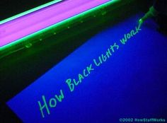 Note to self: highlighters glow under black light.