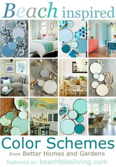 Delicious Beach Inspired Paint Color Schemes: http://beachblissliving.com/paint-color-schemes-ideas/ Beach Paint Colors, Nautical Paint Colors, Beach Color Schemes, Beach House Colors, Colour Schemes, Decorating Color Schemes, Beach Bedroom Colors, Beach Bedrooms, Beach House Bedroom