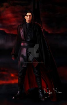 Kylo Ren on Mustafar by darksideofeverything.deviantart.com #starwars #starwarsart