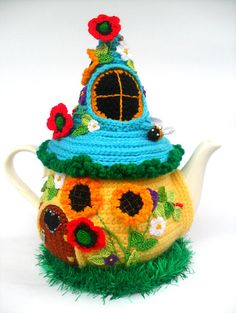 Your place to buy and sell all things handmade Crochet Fairy, Crochet Home, Crochet Dolls, Cosy House, Tea Party Decorations, African Flowers, Tea Cozy, Beaded Flowers, Wool Yarn