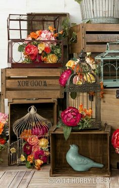Scored one of these birdcages at GW.....idea for Birdcages decor