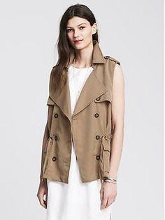 Drapey Vest   Banana Republic (sleveless trench coat)