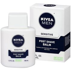 Nivea Men Sensitive Post Shave Balm - fl oz Formulated with Chamomile, Vitamin E, and Provitamin Sensitive Post Shave balm immediately helps to calm and soothe skin and alleviate skin dryness after shaving. Gentlemans Club, Cellulite Scrub, Cheap Makeup, Unique Makeup, Fragrance Parfum, Fragrances, Makati, After Shave, Shopping