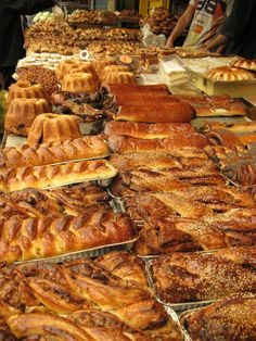 "Mahane Yehuda Market, ""The Shuk"" Jerusalem, Israel European-style pastries are extremely popular among Hassidic families on Shabbat."