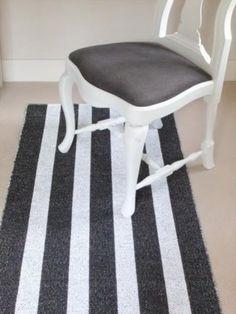 Vertical stripe floor runner - Practical Things - Scandinavian Interiors