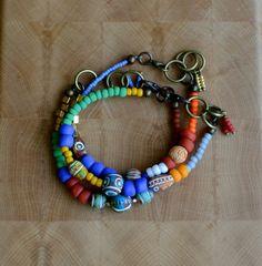 Set of 3 tribal seed bead bracelets friendship by copperandbeige, $25.00