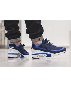 half off 8db41 d9ad9 Nike Mens Air Max BW Trainers In Blue Black White Air Max Classic, Nike Men