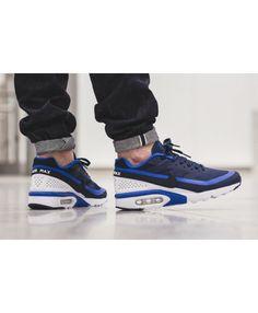 942f2f3010 Nike Mens Air Max BW Trainers In Blue Black White Air Max Classic, Nike Men