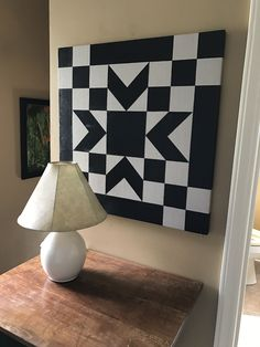 18 Exceptional Helpful hints For Treatment Projects Care Design home decor Barn Quilt Designs, Barn Quilt Patterns, Quilting Designs, Painted Barn Quilts, Black And White Quilts, Black White, Barn Signs, Barn Art, Star Quilts