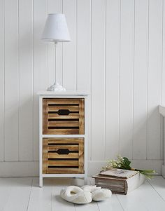 Portside storage furniture, small bedside table. Ideas and designs in furniture for decorating your white home The White Lighthouse www.thewhitelighthousefurniture.co.uk