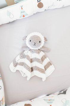Crochet Little Lamb Lovey - Sewrella