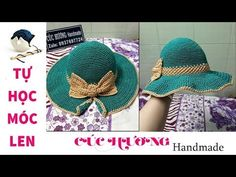 Diy Crafts - crochet hatcrochet cuchuonghandmade tuhocmoclen Hello Everyone, Today I'm gonna show you how to make a blue Hat good for summer. Crochet Hat With Brim, Crochet Summer Hats, Crochet Kids Hats, Spiral Crochet, Single Crochet, Knit Crochet, Free Crochet, Diy Crafts Crochet, Crochet Projects