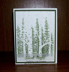 Wonderland stamps & Woodland embossing folder