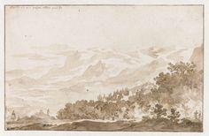 Jan de Bisschop | Tusculum (Frascati) vanuit het Zuidwesten, Jan de Bisschop, 1648 - 1671 |