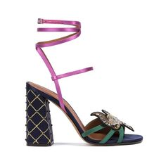 The star shoes for Spring/Summer 2017 ❤ liked on Polyvore featuring shoes, sandals, star shoes, summer shoes, rainbow shoes, embellished sandals and rainbow footwear