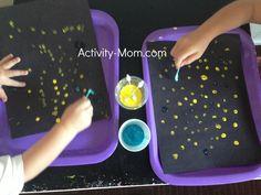 Gle wk 5 - Abraham, qtip painting stars