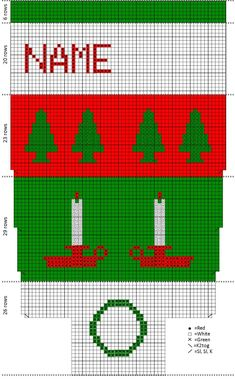 knitted christmas angle graph | Knitting Vintage Christmas Stockings | Synapsed Stuff